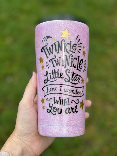 Gender Reveal Stainless Steel Glitter Tumbler