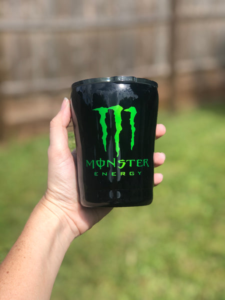Monster Stainless Steel Glitter Tumbler