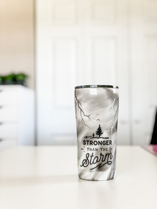 NEW Stronger Than the Storm Smoke Tumbler