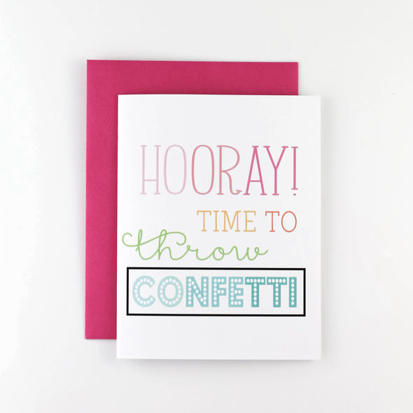 HOORAY! CONFETTI CARD