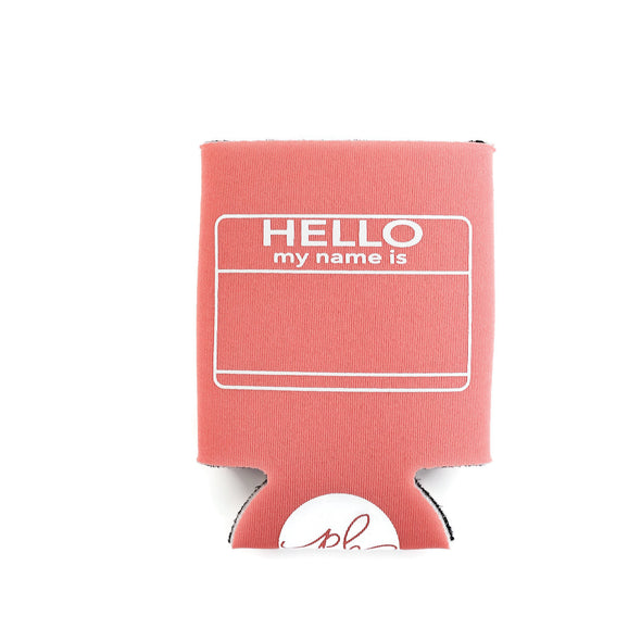 HELLO MY NAME IS... CAN COOLER - CORAL