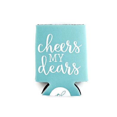 CHEERS MY DEARS CAN COOLER - TURQUOISE
