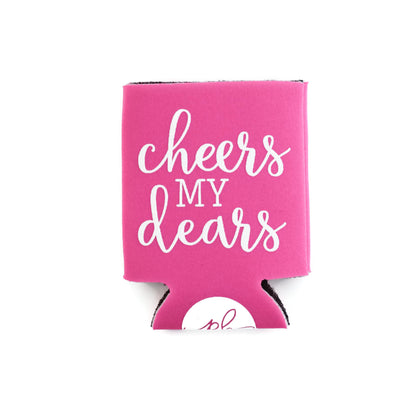 CHEERS MY DEARS CAN COOLER - PINK