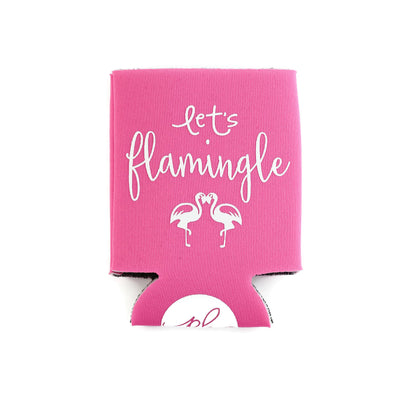 LET'S FLAMINGLE CAN COOLER - PINK