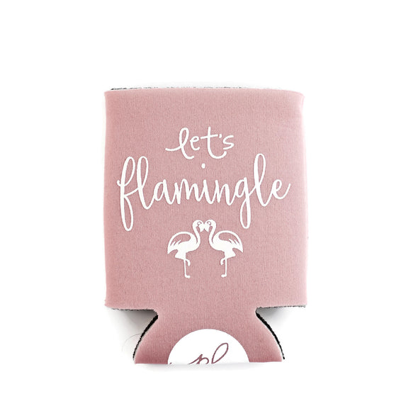LET'S FLAMINGLE CAN COOLER - DUSTY PINK