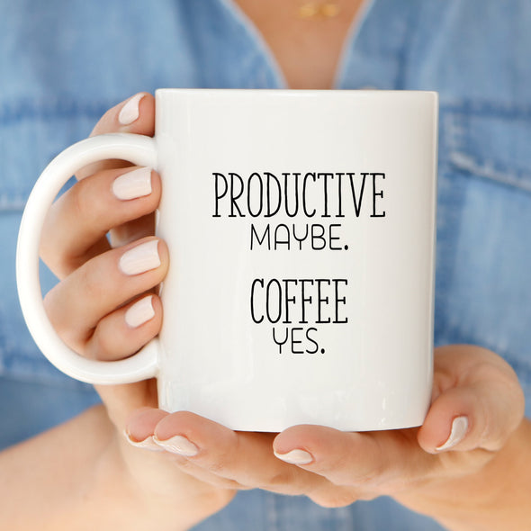 Productive Coffee Mug by Paper Berry Press