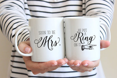 Mrs/Ring Mug by Paper Berry Press