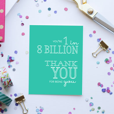 8 Billion Greeting Card by Paper Berry Press