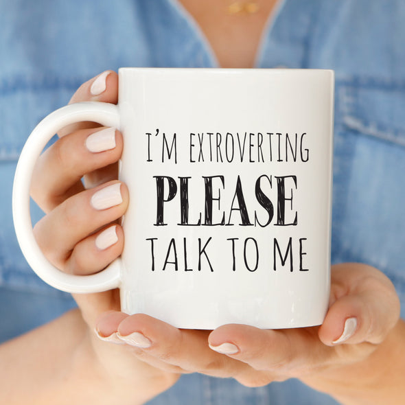 Extrovert Mug by Paper Berry Press
