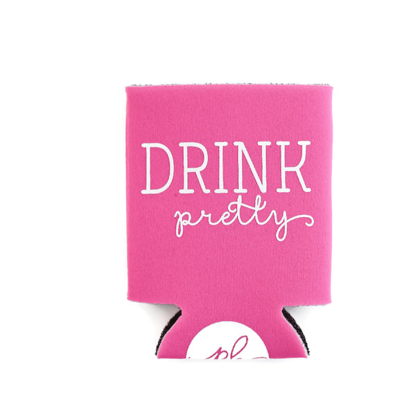 Drink Pretty Can Cooler -  Pink by Paper Berry Press
