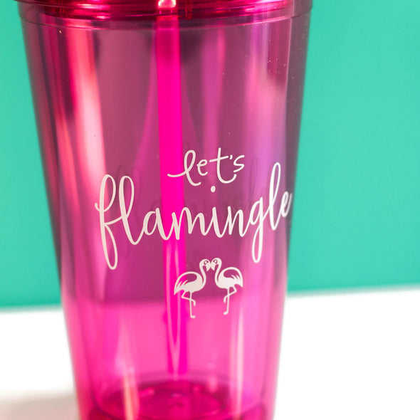 Flamingo Tumbler by Paper Berry Press