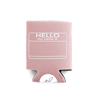Hello Can Cooler - Light Pink by Paper Berry Press