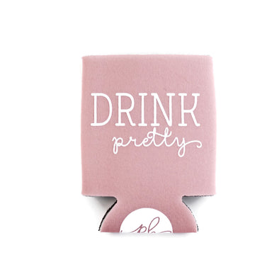 Drink Pretty Can Cooler - Light Pink by Paper Berry Press