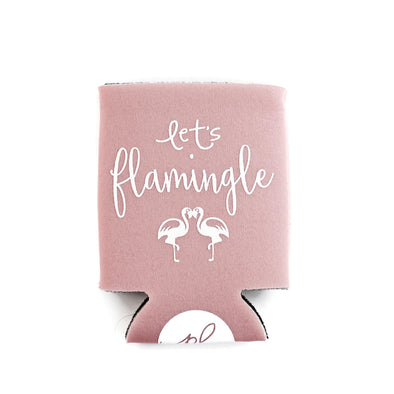 Flamingle Can Cooler - Light Pink by Paper Berry Press