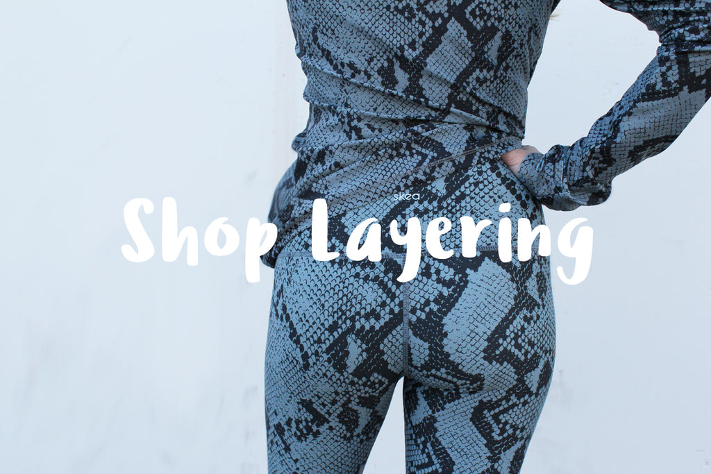 Luxury ski fashion base layers print