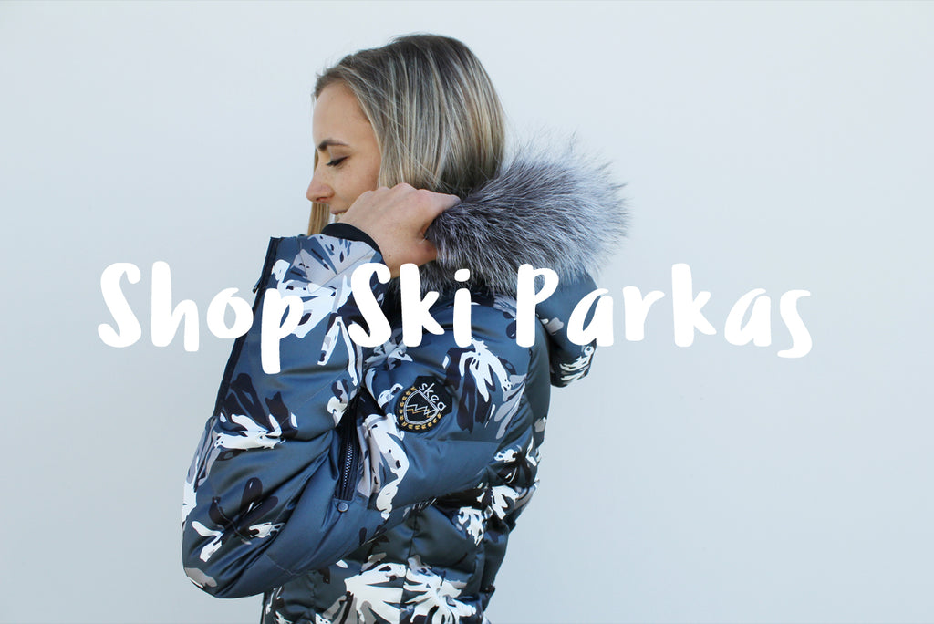 Luxury ski wear winter outerwear parka