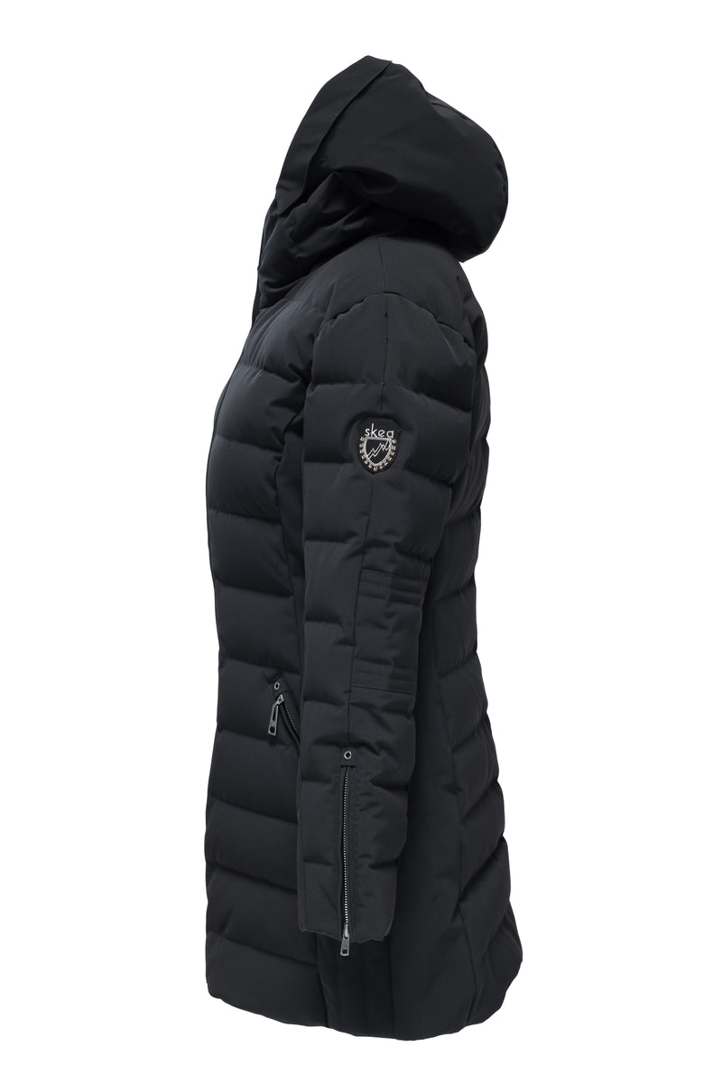 ski jackets, ski pants, luxury skiwear, ski apparel, ski fashion, fur ski apparel, fur trim, Annabelle Coat, Skea Limited, Skea Limited - Skea Limited
