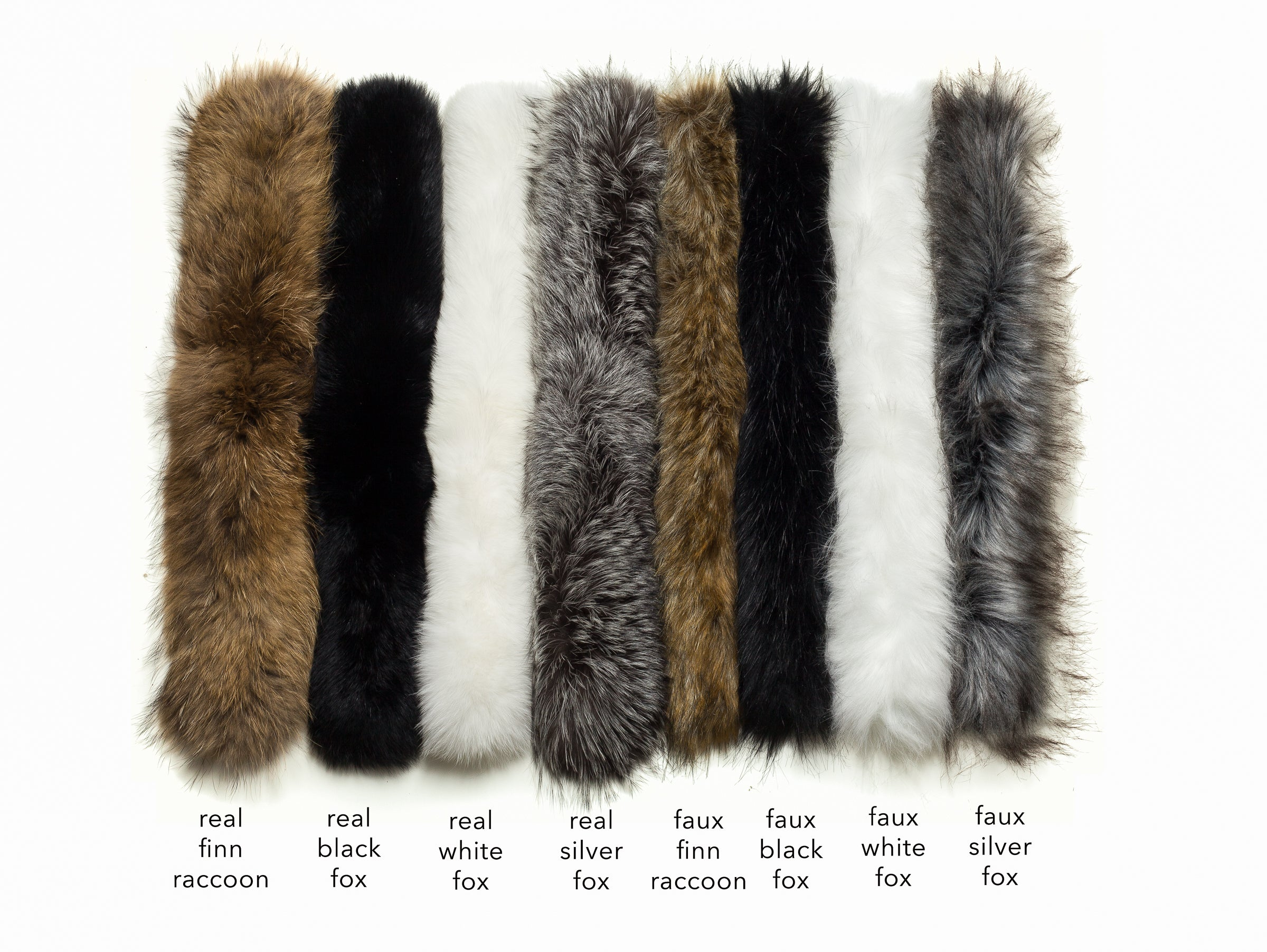 Real White Fox Fur Border