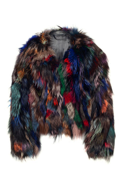 ski jackets, ski pants, luxury skiwear, ski apparel, ski fashion, fur ski apparel, fur trim, Sloan Patchwork Fox Jacket, Skea Limited, Skea Limited - Skea Limited