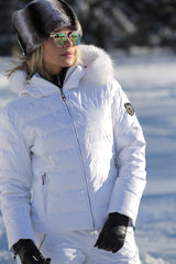 ski jackets, ski pants, luxury skiwear, ski apparel, ski fashion, fur ski apparel, fur trim, Real White Fox Fur Border, Skea Limited, Skea Limited - Skea Limited