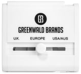 Greenwald's Premium International Power Adapter - Dual USB Wall Charger - Works in 150 Countries Including Europe, Hong Kong, Thailand, New Zealand and More