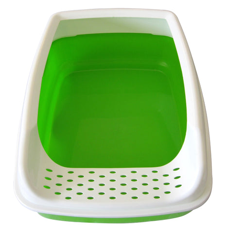... Cat Litter Box - High Sided - Open Top Entry - Green - By Two Meows ...  sc 1 st  Greenwald Brands & Cat Litter Box - High Sided - Open Top Entry - Green - By Two ... Aboutintivar.Com