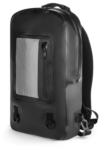 Level 3 Premium Waterproof Backpack - Advanced Heat Treatment Keeps Elements Out - Lightweight - Unique Cell Phone Mesh - Removable Travel Laptop Protector - For College, Camping & Hiking