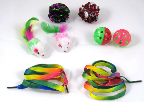 Cat Toys For Interactive Fun - Bulk Variety Pack Contains 8 Pieces By Two Meows