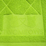 Cat Litter Box Mat - Extra Large - Traps Kitty Litter - Green - By Two Meows