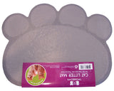 Cat Litter Mat - Traps Kitty Litter Box Mess - Paw Shaped - Gray - By Two Meows