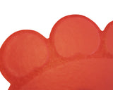 Cat Litter Mat - Traps Kitty Litter Box Mess - Paw Shaped - Red - By Two Meows