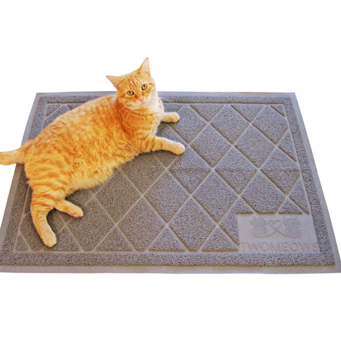 Cat Litter Box Mat Extra Large Traps Kitty Litter Gray By