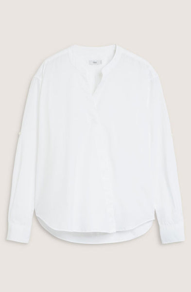 Asymmetrical Stand-Up Collar Blouse Blanche CLOSED