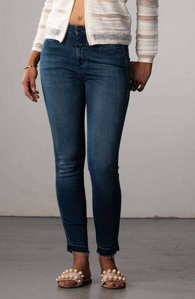 Jeans Skinny Pusher Strong Blue Closed