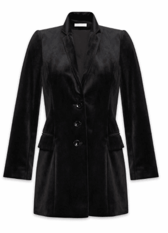Jacket Black Velvet Eliaz Anne Fontaine