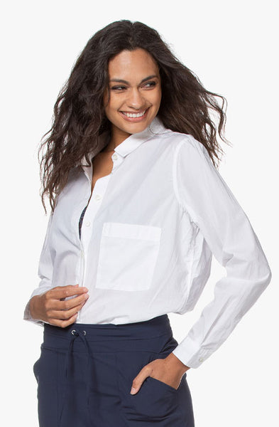 Hailey Organic Cotton Poplin Shirt CLOSED