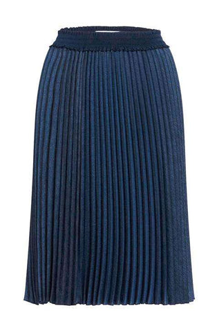 Skirt Peony Demin Effect Pleated Skirt in Blue Indigo ANNE FONTAINE