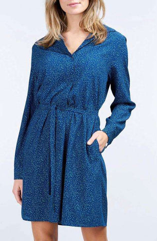 Repeat Dress Micro dots dark blue