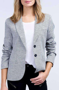 Repeat Blazer Grey Jacquard