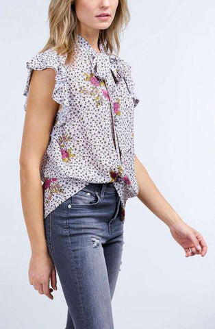 Repeat Blouse Flower Print Pink