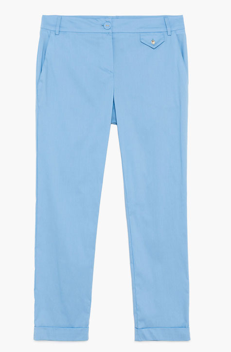Women's light Blue Pant with functional Pockets. Patrizia Pepe available at our digital boutique Affairedefemmes.net
