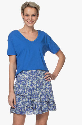 V-Neck T-Shirt Bluebird CLOSED