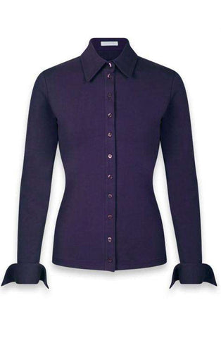 Shirt Nuage Purple Long Sleeve-Anne Fontaine