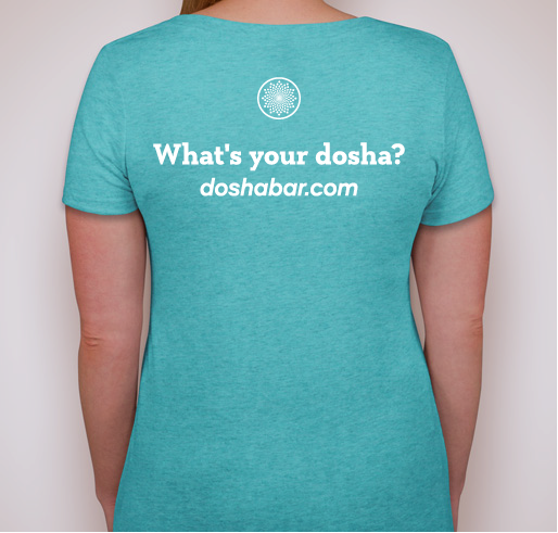 Ladies Dosha® Bar T-Shirt for Vata Dosha (Super SOFT, Deep V-Neck)