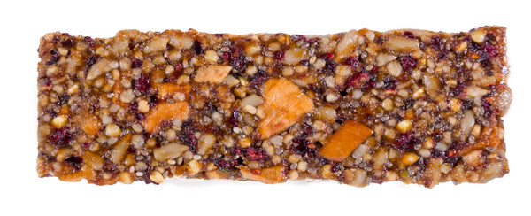 Look at all the organic, unsweetened, dried fruit and seed ingredients in this Apple Cran Awakening Dosha Bar.  It contains Dosha® Kapha Organic Seeds Blend (Sunflower Seeds, Hemp Seed Hearts, Quinoa Crisps, Buckwheat, Chia Seeds), Dosha® Kapha Organic Unsweetened Fruits Blend (Plums, Apples, Cranberries), and just 3g of organic, raw honey.