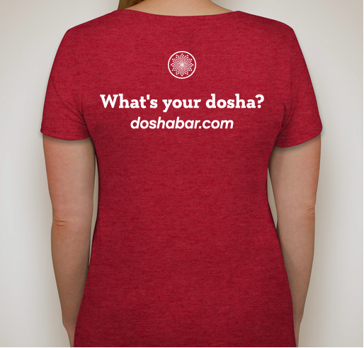 Ladies Dosha® Bar T-Shirt for Pitta Dosha (Super SOFT, Deep V-Neck)