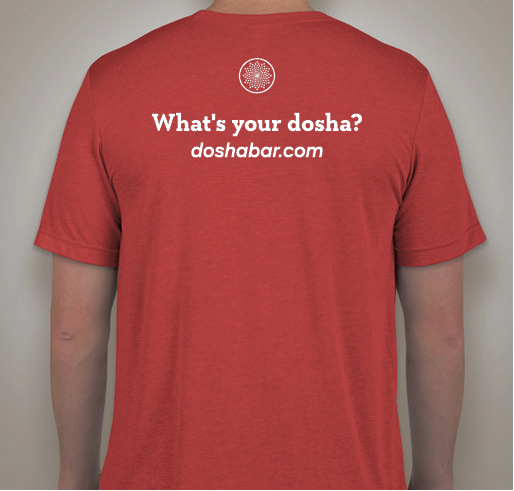 This is the reverse of our Dosha® Bar SUPER Soft Dosha-Specific Unisex, Crew Neck Dosha Bar T-Shirts.  FIND YOUR DOSHA, LEARN YOUR DOSHA, LOVE YOUR DOSHA!  BUY ONE TO SHOW PRIDE IN YOUR DOMINANT DOSHA OR TO CELEBRATE THE SEASON!