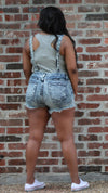 Denim Overall Shorts - ARUZE BOUTIQUE