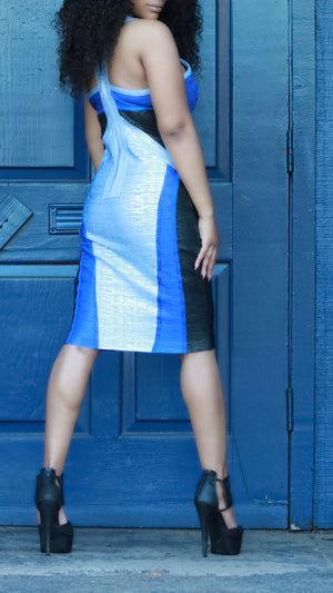 Blue So Couture Dress - ARUZE BOUTIQUE