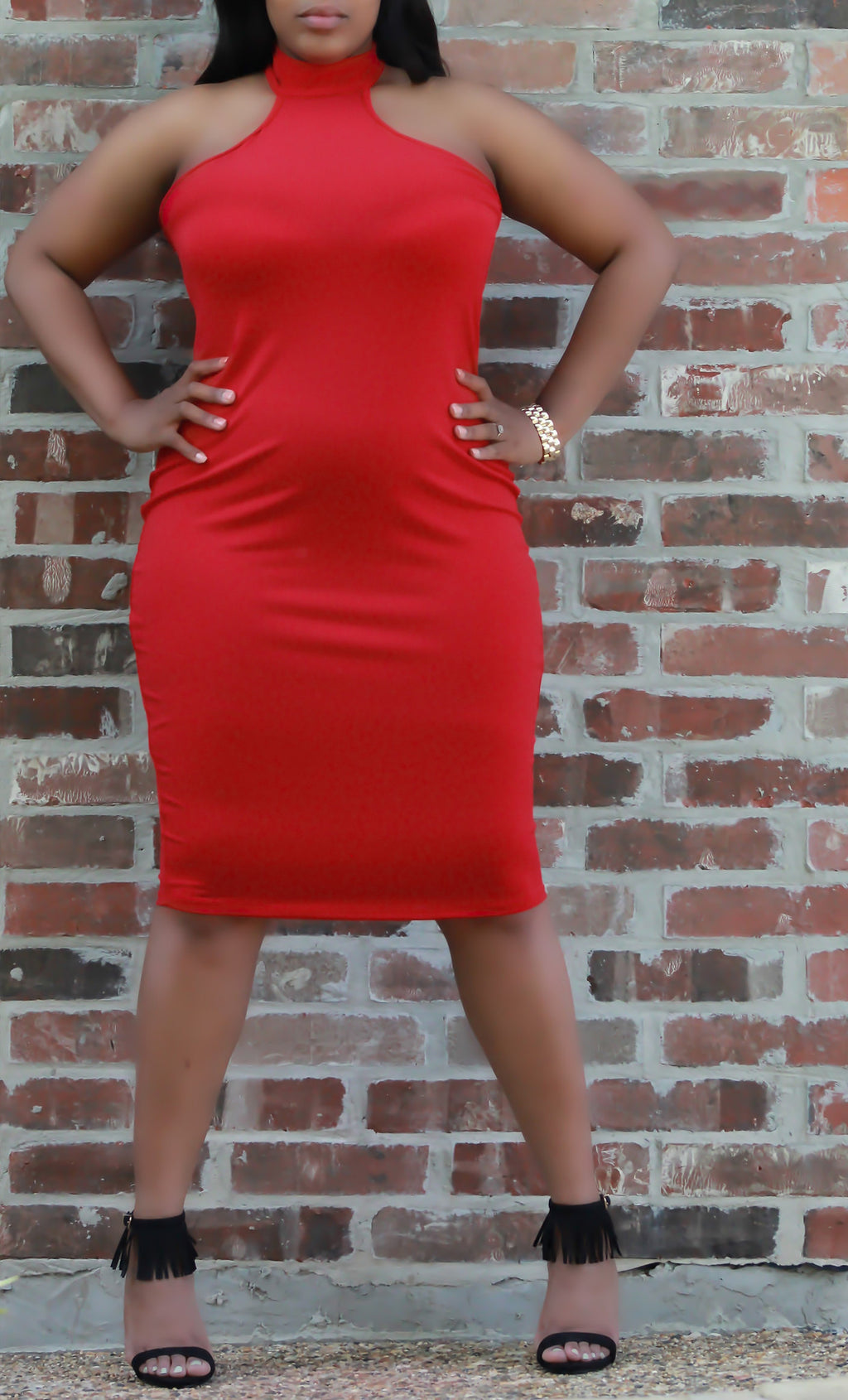 Red Razor Back Dress - ARUZE BOUTIQUE